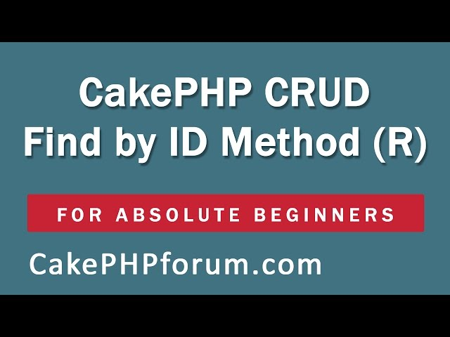 CakePHP 2.5.4 Basics Tutorial for Beginners - Blog Application - 12 - Find by ID and GET request