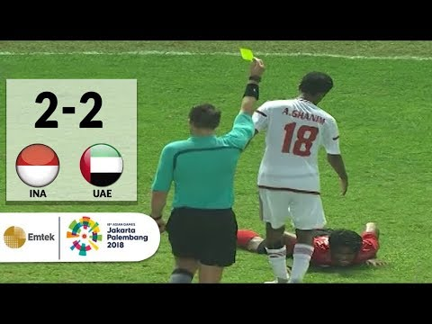 Highlights Sepak Bola Indonesia 2 vs 2 United Arab Emirates  Asian Games 2018