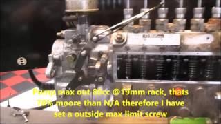 Dieselmeken show Nissan TD42 inline convert to mechanical governor