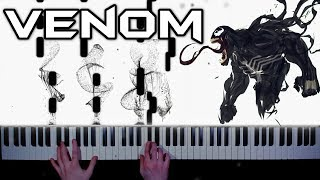 Download lagu Eminem - Venom - piano version | tutorial | how to play