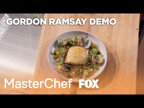 Cooking Demo: Potato-Crusted Sea Bass (Extended) | Season 10 Ep. 21 | MASTERCHEF