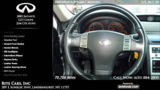 2005 Infiniti G35 Coupe 2dr Cpe Auto | Rite Cars, Inc, Lindenhurst, NY - SOLD
