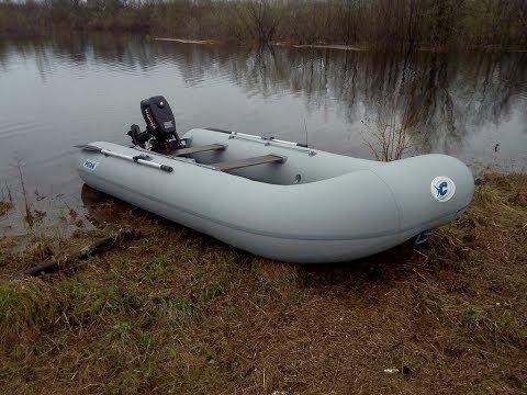 Надувная плоскодонная лодка Ротан 380Э НДНД + лодочный мотор 5 л.с. (2Т)