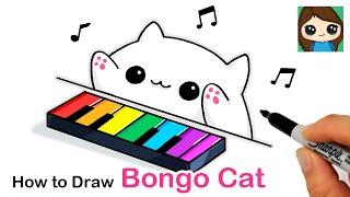How to Draw Bongo Cat