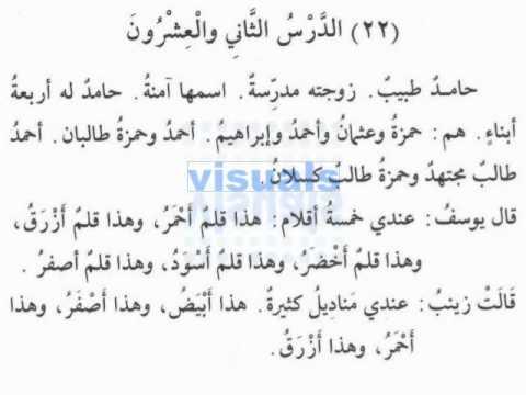 Madinah Arabic Book 1/3 Lesson 22/23
