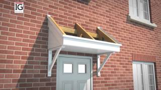 How to install an IG Elements Mono ready-to-tile GRP Door Canopy