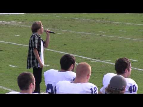 National Anthem sung by Jackson Shaffer - USD Football Game