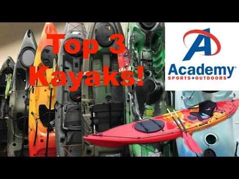 TOP 3 Kayaks from Academy for Kayak Fishing !
