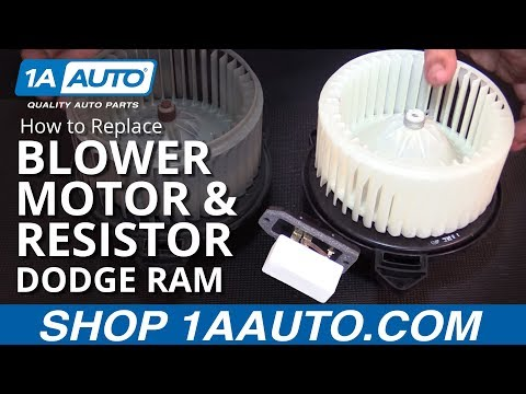 How to Replace Blower Motor and Resistor 02-08 Dodge Ram 1500