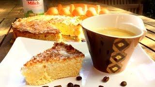 Kokos-Buttermilch-Kuchen - Lowcarb - ohne Zucker (170 Grad Unter-/Oberhitze für 35 min)