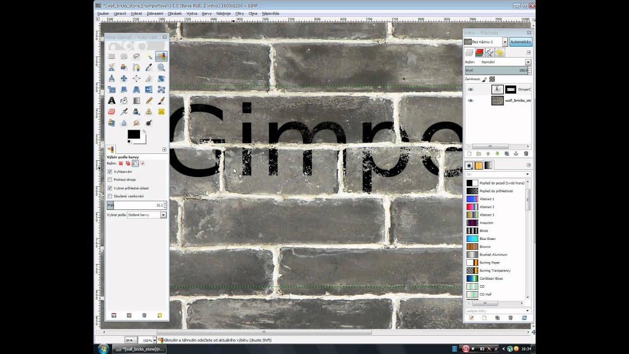 Gimp Tutoriál - Realně vypadajicí text na libovolném pozadí [GimperCZ]
