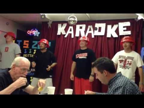 DMS coaches karaoke