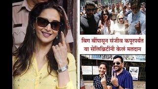 Amitabh Bachchan to Sanjeev Kapoor, Celebrities Voted for Lok Sabha Elections 2019