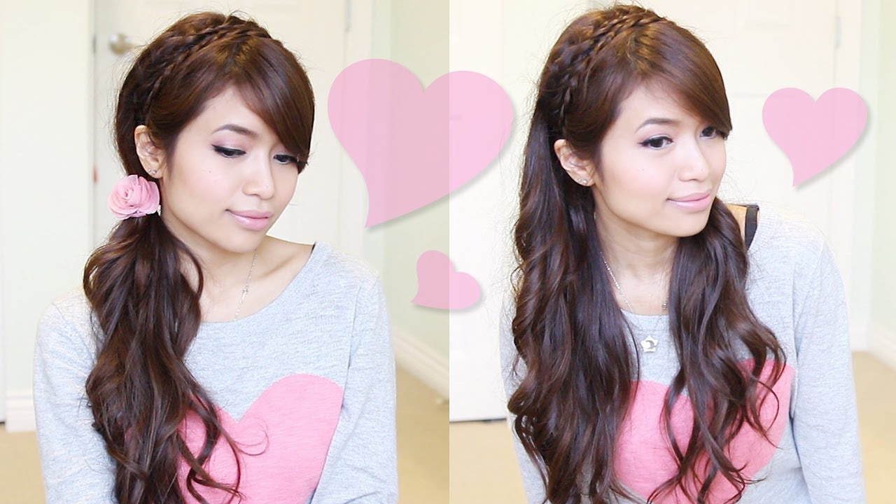 picture Headband Braid Hairstyles For Romantic Girls To Show Off Their Nature