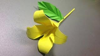 Лилия оригами / Цветы  из бумаги(Лилия оригами / Цветы из бумаги Несложная по технике лилия оригами в этом уроке. Повторяйте все за мастером..., 2015-09-19T17:30:01.000Z)