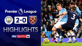 De Bruyne shines as City overcome Hammers | Man City 2-0 West Ham | EPL Highlights
