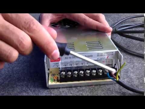 como ligar fonte 12A chaveada 30A 20A 10A eletronica cftv led