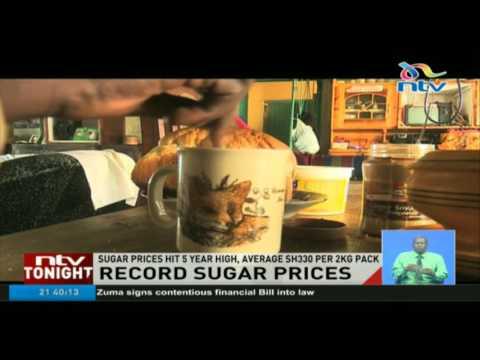 Sugar prices hit 5 year high, average Sh330 per 2kg pack