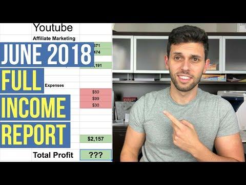 MY JUNE 2018 INCOME BREAKDOWN! Amazon, Youtube, Affiliate Marketing Passive Income Streams