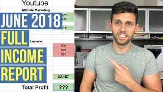 MY JUNE 2018 INCOME BREAKDOWN! Amazon, Youtube, Affiliate Marketing Passive Income Streams