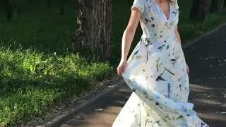 Купить дизайнерское платье из штапеля от Русского дизайнера в Москве