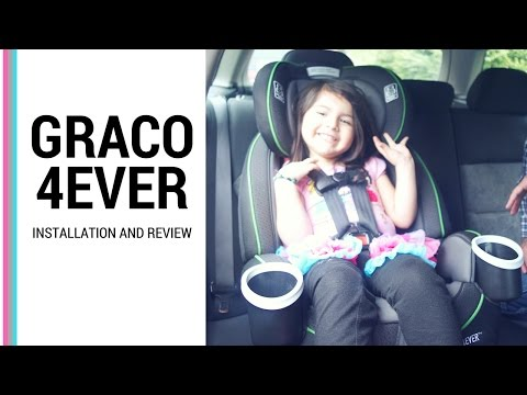 HOW TO INSTALL GRACO 4EVER CAR SEAT (ALL 4 POSITION)