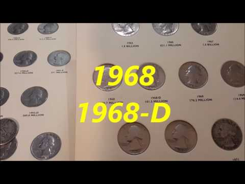 The 25 Cents (or Quarter) 1965,1966,19671968 Y 1969,Washington Quarter-Details