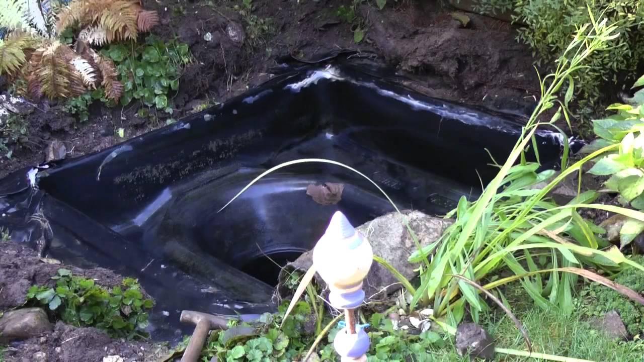 Neue Folie Für Undichten Teich