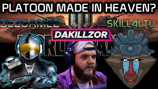 Dakillzor, DezGamez, Skill4ltu Platoon! Made in Heaven? | World of Tanks