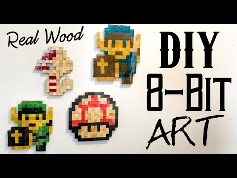 How to Make 8-Bit Sprites Out of Wood | Diy | Video Game Characters