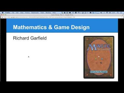 Game Design Class, Part 2: Formal Mechanics & Game Balance