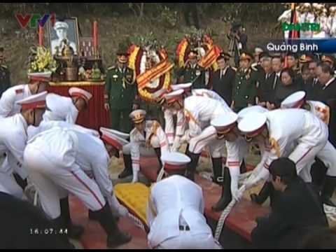 Lễ an táng Đại tướng Võ Nguyên giáp tại Quảng Bình - Tiễn đưa người về lòng đất mẹ