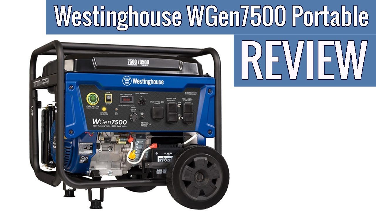 Westinghouse WGen7500 Portable Generator with Remote