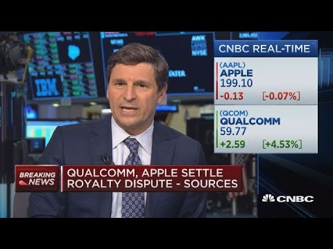 Apple, Qualcomm settle royalty dispute