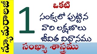 Numerology in Telugu Date of Birth 1,10,19,28