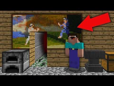 Minecraft NOOB vs PRO : NOOB FOUND SECRET PASSAGE IN VILLAGER HOUSE! Challenge 100% trolling