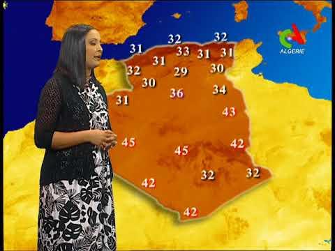 Les prévisions météo⛈ de cet après-midi du vendredi sur Canal Algérie