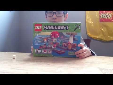 Lego Minecraft Mooshroom island review - YouTube