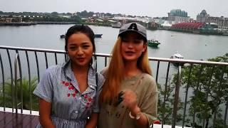Melina Rai and Alisha Rai in Singapore