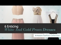 6 Enticing White And Gold Prom Dresses Amazon Fashion Collection