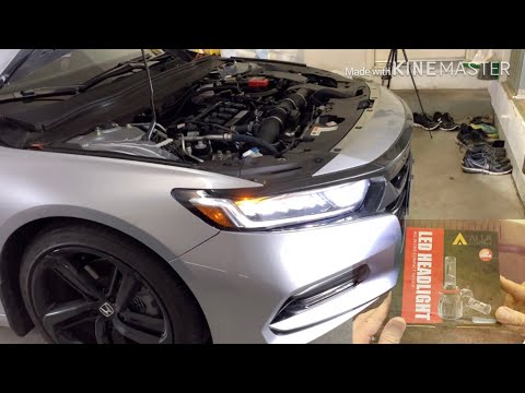 2018 2019 Honda Accord- the most beautiful LED headlight upgrade
