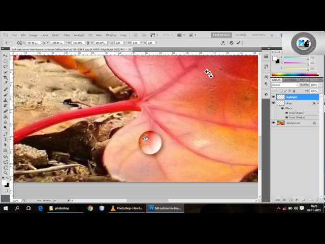 how to create water drop in photoshop