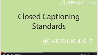closed captioning bumpers