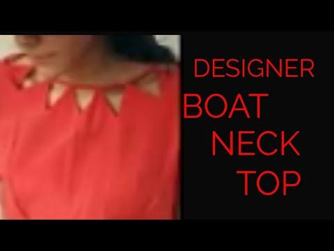 Designer Boat Neck    Boat Neck with Triangle   Designer Boat Neck   Boat Neck With Hollow Design