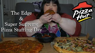 Pizza Hut The Edge and Super Supreme with BBQ Wings Mukbang