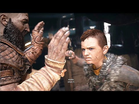 God of War 4 Atreus Gets Angry Awakens Spartan Rage (Kratos Son) PS4 2018