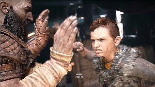 God of War 4 Atreus Gets Angry Awakens Spartan Rage (Kratos Son) PS4 2018