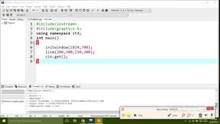 How to draw a line  in C & C++  (hindi/urdu)