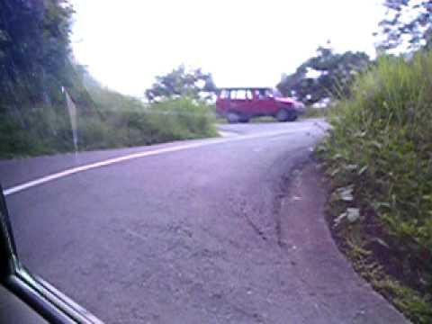 Taxi ride by Lake Maninjau