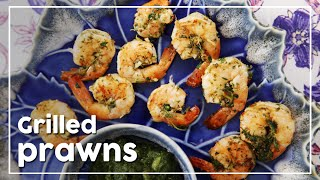 Juicy Grilled Prawns With Lemon And Coriander - My Recipe Book By Tarika Singh